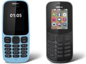 Nokia 105 y Nokia 130 cuentan con teléfonos con un mes de batería en espera relanzada