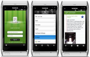 Notekeeper, el cliente de Evernote, ahora disponible para Symbian