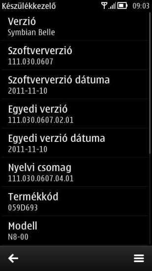 Nueva actualización de Symbian Belle (111.030.0607) filtrada para N8