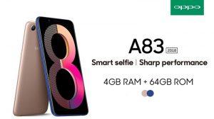 OPPO A83 (2018) lanzado en India con pantalla 18: 9 de 5.7 pulgadas y desbloqueo facial