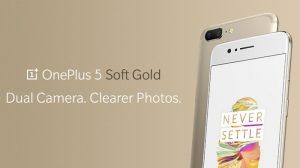 OnePlus 5 Soft Gold Limited Edition presentado, sale a la venta en India mañana