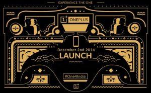 OnePlus One se lanzará en India el 2 de diciembre;  Vendería exclusivamente a través de Amazon India
