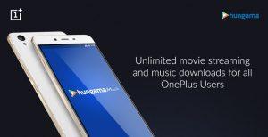 OnePlus se asocia con Hungama para ofrecer contenido gratuito por valor de Rs.  3599 a sus usuarios