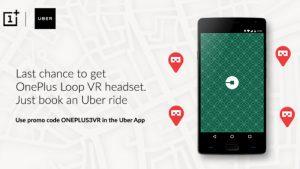 OnePlus se asocia con Uber para regalar auriculares Loop VR en 8 ciudades de la India