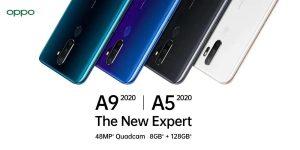 Oppo A9 (2020) y Oppo A5 (2020) se lanza en India;  el precio comienza en ₹ 12,490