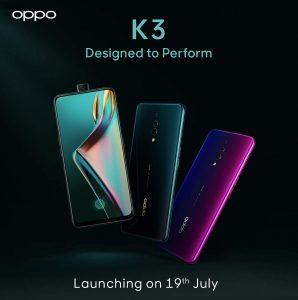 Oppo K3 confirmado para lanzarse en India el 19 de julio a través de Amazon