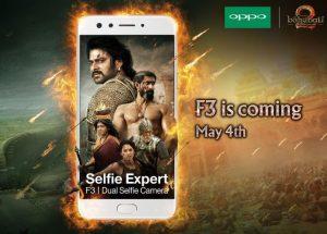 Oppo se asocia con Baahubali para lanzar Oppo F3 con cámara dual selfie