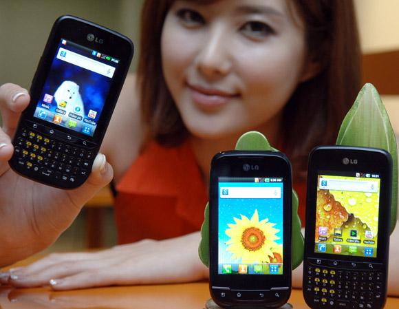 Optimus Pro y Optimus Net basados en Android ingresan a la familia LG Optimus