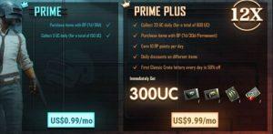 PUBG Mobile presenta las suscripciones Prime y Prime Plus