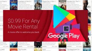 Películas de Google Play ahora a tan solo $ 0,99 [Google Play offer]
