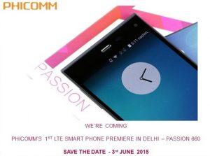 PhiComm Passion P660 con pantalla Full HD de 5,2 pulgadas y 4G LTE se lanzará en India el 3 de junio