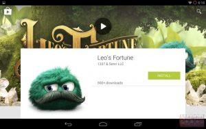 Capturas de pantalla de Google Play Store con fuga de interfaz de usuario de Material Design