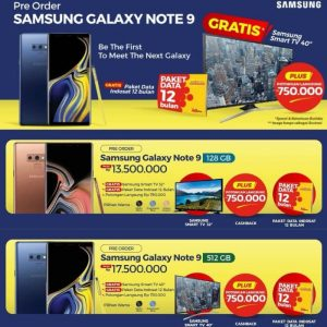 Precio del Samsung Galaxy Note9 revelado en un póster de pre-pedido filtrado