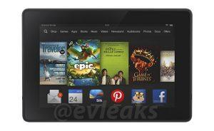 Presiona renderizados de la superficie renovada de la tableta Kindle
