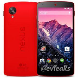Presiona renders de la superficie roja del Nexus 5