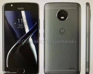 Presione render de Motorola Moto E4 filtrado en línea