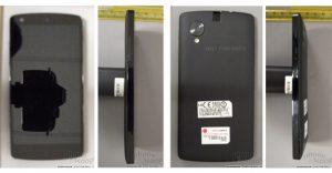 Primeras imágenes posibles de Nexus 5 vistas en FCC