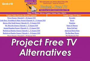 Alternativas de Project Free TV 2020: ProjectFreeTV desbloqueado