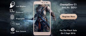 Puede obtener el teléfono inteligente Android ChampOne C1 por solo Rs.  501