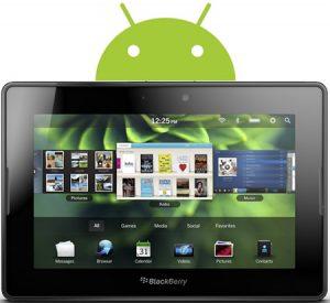 Blackberry PlayBook para admitir aplicaciones de Android