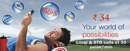 Realice llamadas locales y STD a 30 paise / min en Aircel Mumbai