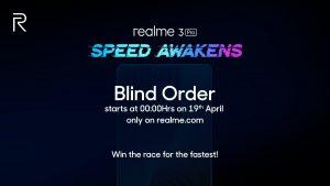 Realme 3 Pro estará disponible para 'Blind Order' antes de su lanzamiento