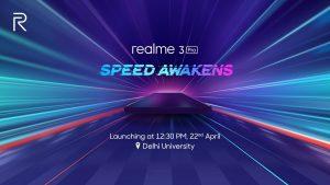 Realme 3 Pro programado para lanzarse en India el 22 de abril