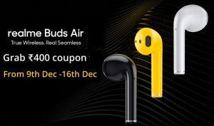 Realme Buds Air podría tener un precio de 4999 rupias en India;  lanzamiento el 17 de diciembre