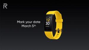 Realme Fitness Band confirmado para lanzarse en India el 5 de marzo