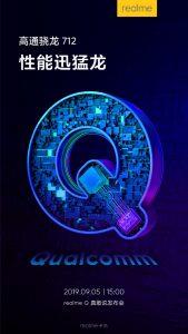Realme Q viene impulsado por Qualcomm Snapdragon 712 SoC