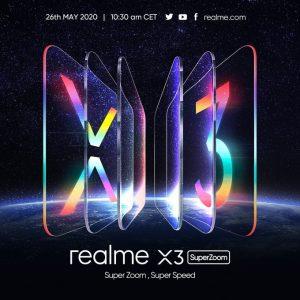 Realme X3 SuperZoom confirmado para lanzarse el 26 de mayo en Europa