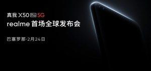 Realme X50 Pro 5G se lanzará en el MWC el 24 de febrero
