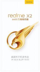 Realme XT se lanzará en China como Realme X2 el 24 de septiembre