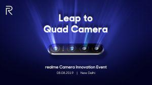 Realme exhibirá su teléfono inteligente con cámara cuádruple de 64 MP en India el 8 de agosto