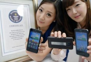 Récord Guinness otorgado al LG Optimus 2X por ser el primer teléfono inteligente de doble núcleo