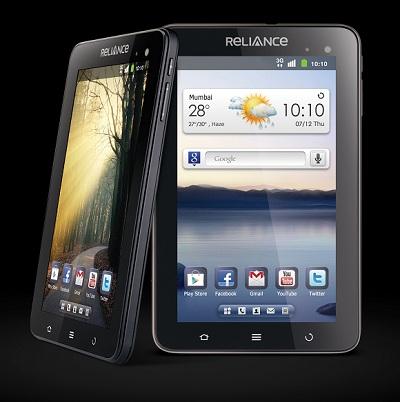 Reliance 3G Tab lanzado para Rs.  14,499 combinados con beneficios por valor de Rs.  6250