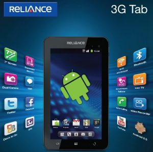 Reliance Communications presenta la tableta con tecnología Android Reliance 3G Tab