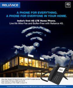 Reliance Communications presenta un teléfono residencial habilitado para 4G VoLTE