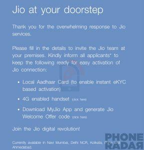 Reliance Jio comienza la entrega a domicilio de tarjetas SIM Jio