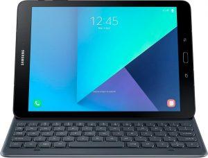 Render filtrado muestra Samsung Galaxy Tab S3 con su teclado
