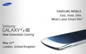 Rumor: Samsung Galaxy S III se anunciará el 22 de mayo según una invitación filtrada