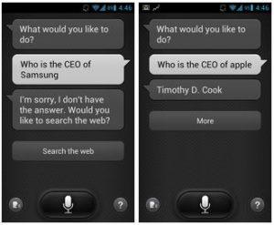 S-Voice sabe menos sobre Samsung y más sobre Apple