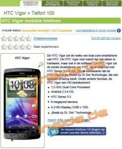 Saluda a HTC Vigor