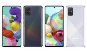 Samsung Galaxy A51 y A71 se lanzarán en India a principios del próximo mes