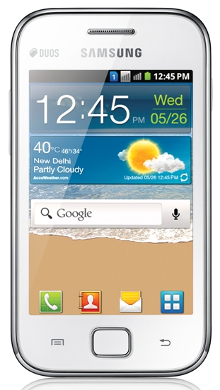 Samsung Galaxy Ace Duos Dual GSM SIM versión lanzada en India
