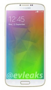 Samsung Galaxy F Press renderizar fugas nuevamente en oro brillante