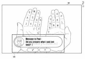 Samsung Galaxy Glass podría permitirle usar sus manos como teclado