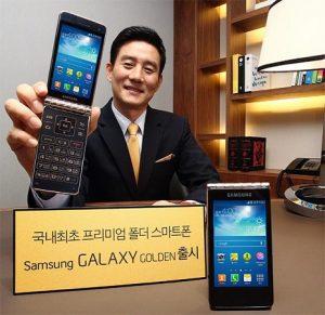 Samsung Galaxy Golden teléfono con tapa de Android presentado