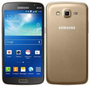 Samsung Galaxy Grand 2 de color dorado incluido en la eStore de Samsung India por Rs.  20900