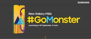 Samsung Galaxy M30s está listo para lanzarse en India el 18 de septiembre